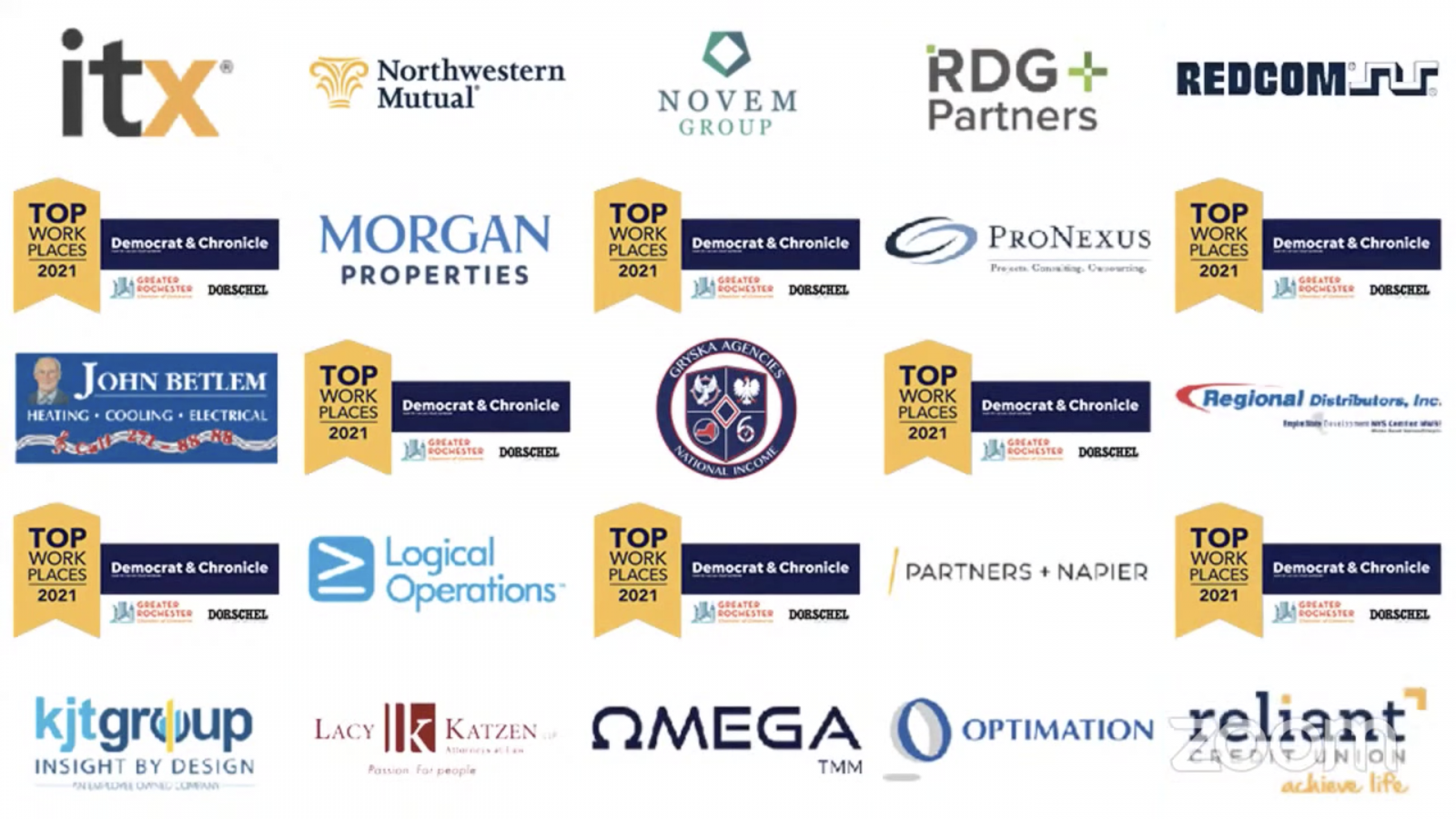 Rochester D&C Top Workplaces - Omega TMM
